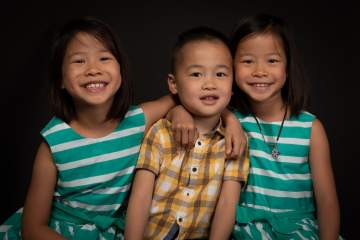 Portrait de frère et soeurs