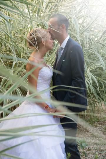 Photo de mariée dans la nature