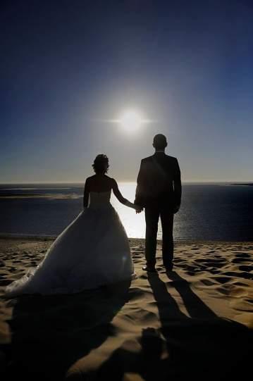 Photographe pour une séance photo de mariés