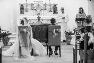 Photo de mariage à l'église